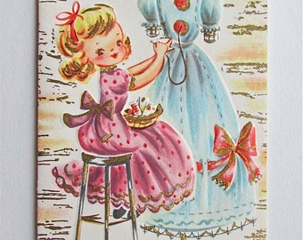 Vintage get well card and envelope - never used