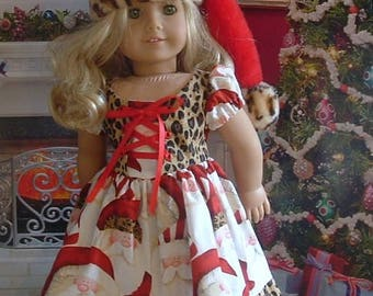 Santa Baby Christmas Dress for 18 inch American Girl Dolls