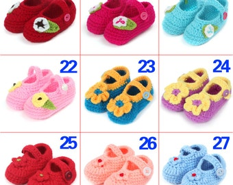 Cute Baby Shoes. Knitted Baby Shoes. New Baby Gift. Baby Shower Gift. Photo-prop. Baby Mary Janes Crochet sandals,daisy booties