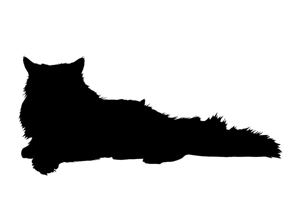 Download Persian Cat Silhouette Custom Die Cut Vinyl Decal Sticker