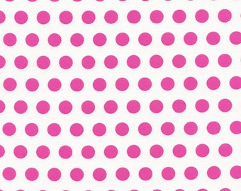 Pink Polka Dot Fabric, Timeless Treasures Tribeca C3431 Candy, Pink and White Dot Quilt Fabric, 100% Cotton