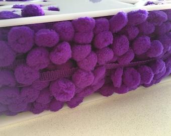 Purple Pom Pom Trim