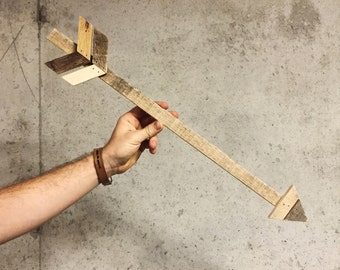 Skinny Wood Wall Arrow   Made in KC MO USA   Arrow