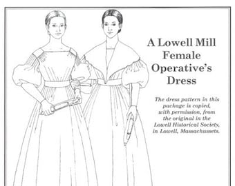PP806 - Past Patterns #806, 1827-1836 Lowell Mill Girl Dress Sewing Pattern