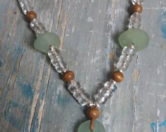Statement Seafoam Seaglass Necklace