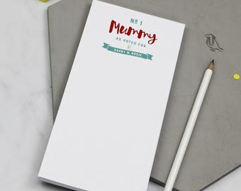 Number One Mummy' Notepad | To Do List | To Do List Notepad | Mum To Do Pad | To Do | To Dos | Things To Do | Personalised 'Stuff To Do'