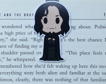 Snape - Magnetic bookmark || severus, hp inspired, book lover gifts, witchcraft, magic, wizard, always, wizardry, bookmark