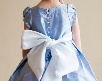 Flower Girl Dress - Silk - Special Occasion Girl's Dress -