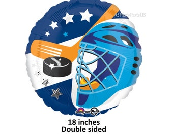 ballon de hockey, sport décorations de joueur de l'obtention du diplôme, fournitures de fête d'anniversaire de hockey, rondelle, bâton, masque, rouleau, glace, équipe, Ligue, garçons