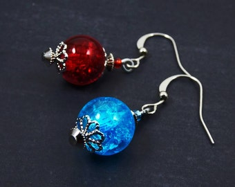 Gamer jewelry, Video-game, Mana Potion earrings, mothers day Personalized custom earrings gift for her, Horde, Best friend mother gift