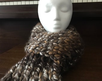 Chunky Yarn Scarf- S'more