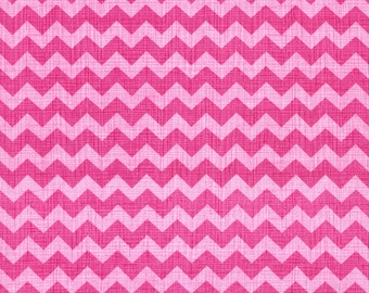 Fabric by the Yard -- Zag in Peony by Timeless Treasures - 1 yard