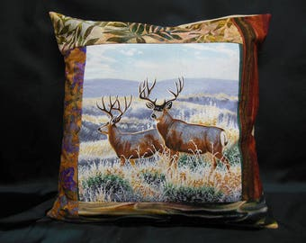 "Collection ""Indian summer"", square Cushion cover 2 deer (C299)"