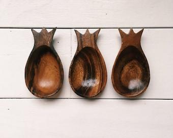 Mini Wood Pineapple Bowl Trio