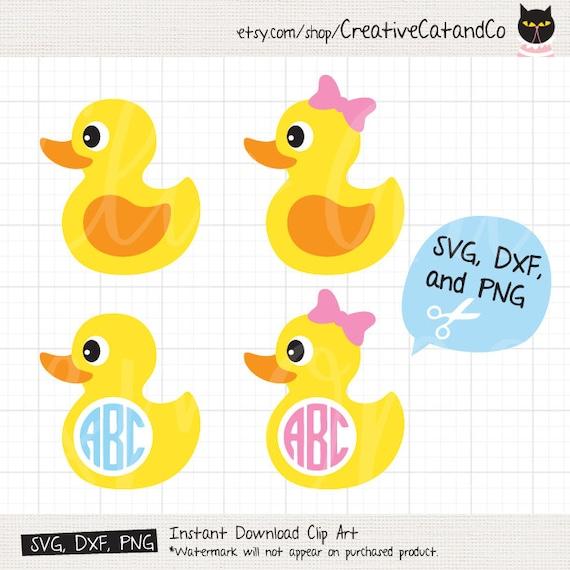 Rubber Duck Svg Monogram Frame Svg For Cricut Or Silhouette