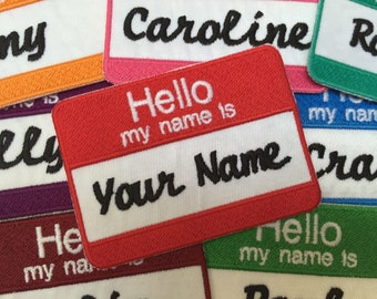 HELLO Nametag Patch