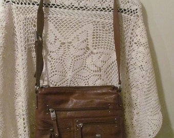 Stone Mountain mahogany brown practical every day bag