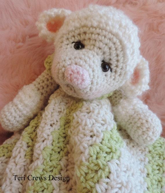 Crochet Pattern Lamb Huggy Blanket Lovey by Teri Crews instant