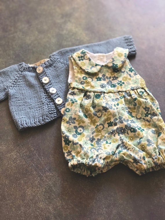 Romper and Sweater Set for Rag Doll