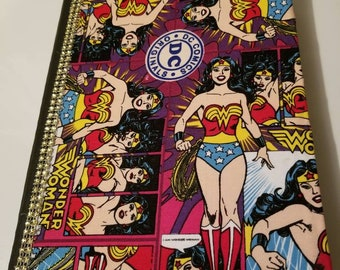 Altered composition book/journal/wonder woman/DC comics/Bandana