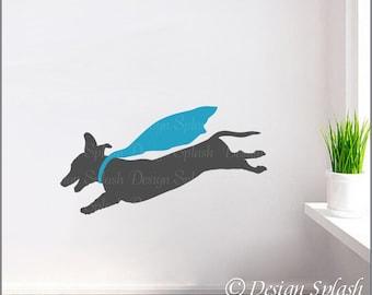 Dachshund Decal, Weiner Dog Sticker, Animal Wall Art, Dog Lover Gift A-117B-S