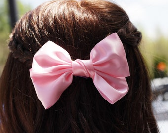 Light Pink Big Bow Hair Clip