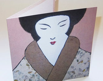 JAPAN12 greeting card