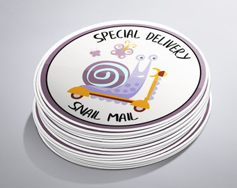 Snail Mail Stickers, Special Delivery, Mail Stickers, Cute Packaging, Happy Mail, Packaging Supplies, Mail Postal USPS, Postal Stickers,