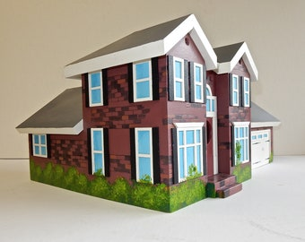 Custom Made Birdhouse Replica of Your Home