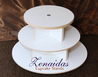 White Melamine Cupcake Stand Cupcakes 3 Tier Round Cupcake Tower Display Stand Birthday Stand DIY Project