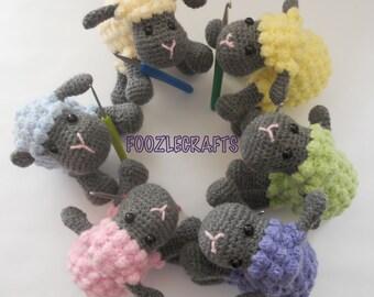 Adorable handmade crochet sheep