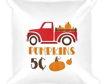 Fall Harvest Pumpkins Square Pillow
