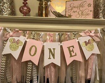 Minnie Mouse Birthday Decorations   Minnie Mouse Party Decorations   Minnie Mouse Birthday Banner