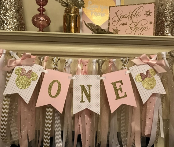 Pink and Gold Minnie Mouse Birthday Decorations Minnie Mouse