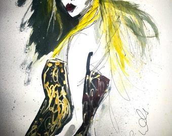 "Fashion Art Prints, Wall Art, Printable Art, 8.5"" x 11"", PDF Instant Download, Art Print"