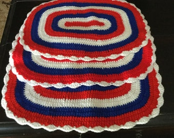 Vintage crochet placemats
