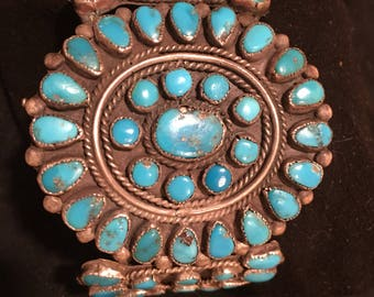 The rarest 1920's Vintage Sterling Silver Kingman Turquoise
