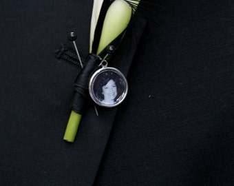 Photo Charm for Bridal Bouquet or Boutonniere