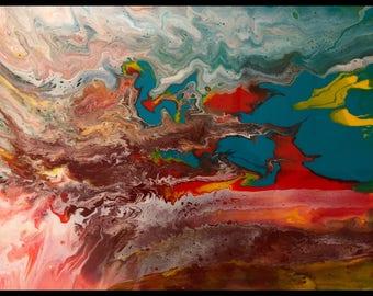 Fluid Acrylic- Where the earth meets the sky