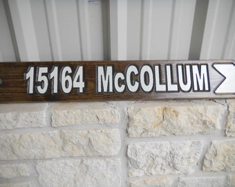 Directional Signs, Carved Cedar Wood, Long lasting, Refelective, Street Signs, Hand Made, UV protective finish,
