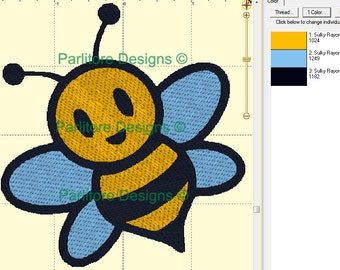Bumble Bee Embroidery Design ~ INSTANT DOWNLOAD ~ 4x4, 5x7, and 6x10 Sizes