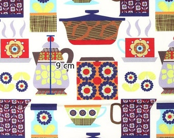Retro kitchen, Cotton 100% fabric, by Yard