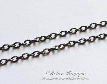 1 m chain fine anthracite color sold per meter