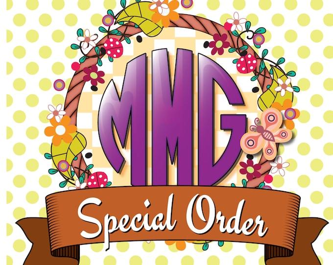 Custom Order Special