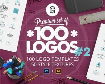 Premium-Set von 100 Logos 02