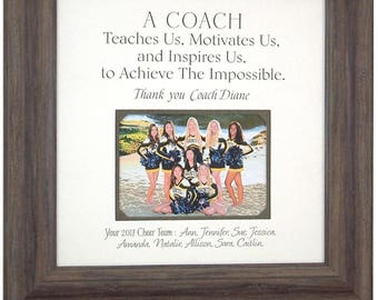 Gift for Cheer Coach, Cheer Coach Gift, Cheerleading Coach Gifts, Cheerleading Gifts, Gift for Coaches, Cheer Gifts, Sports Team Gift, 16x16