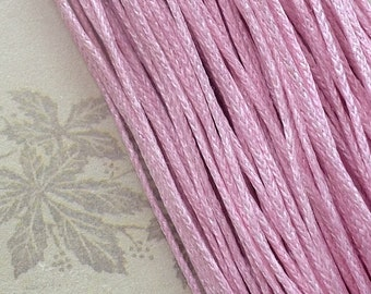 1 mm Light Pink Colour Waxed Cotton Cord (.aa)