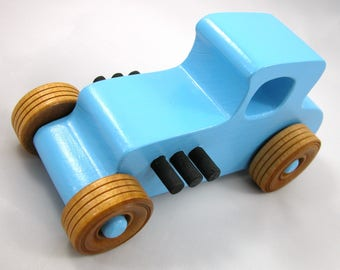 Wooden Toy Car, Hot Rod, 27 T Coupe, 1927 Ford, Race Car, Street Rod, Dragster, Speedster, Rat Rod, Toys For Boys, Toys For Girls, Wood Toy