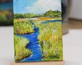 Salt Marsh Coastal Mini Painting