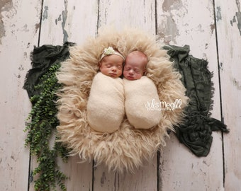 """NEW RTS FRAYED Wrap/Layer for photography 78""""x27"""", newborn photography, children layers for photography"""
